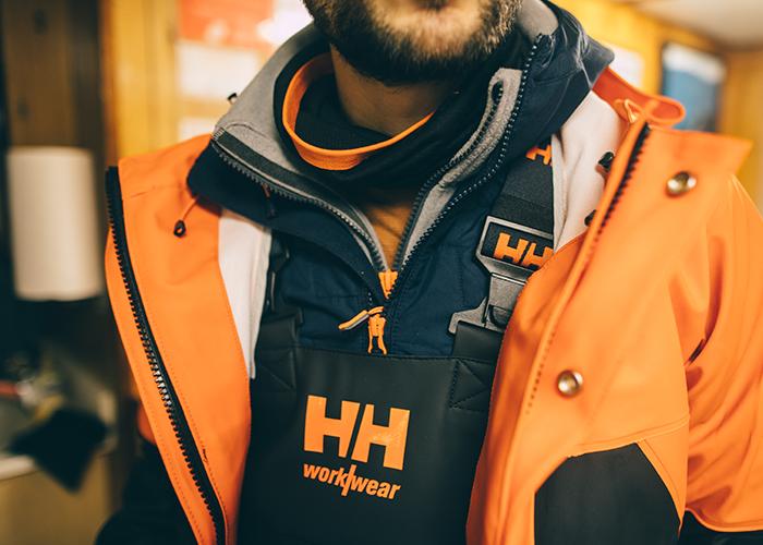Close up on waterproof bib and jacket.